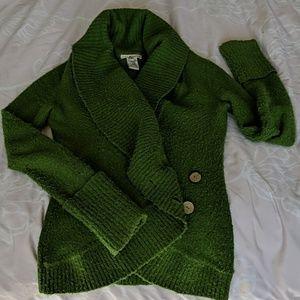 Kenzie green sweater cardigan, small